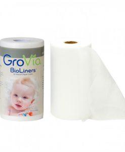 Plenične predloge GroVia BioLiners - 200 kosov - 100% naravne predloge brez vonja, za lažje čiščenje pleničk. Preko njih prehaja vlaga, medtem ko vzdržujejo dojenčkovo kožo suho.