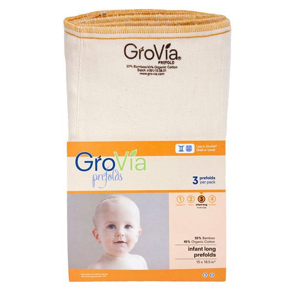 Prefold plenice GroVia – velikost 3 (3 kosi)