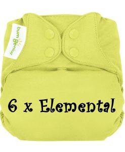 Paket 6 pralnih plenic BumGenius Elemental