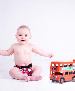 Pralna plenica TotsBots EasyFit Star Wheels On The Bus
